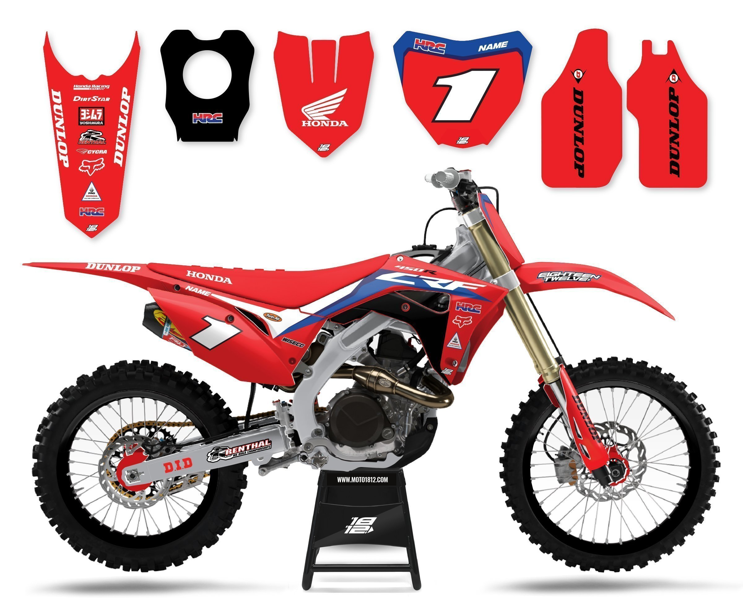 HRC Honda red backgrounds